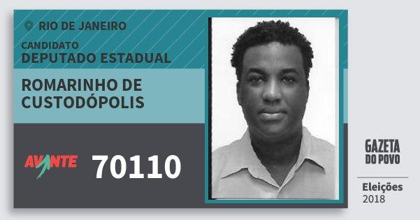 Santinho Romarinho de Custodópolis 70110 (AVANTE) Deputado Estadual | Rio de Janeiro | Eleições 2018