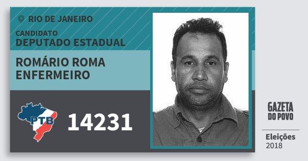 Santinho Romário Roma Enfermeiro 14231 (PTB) Deputado Estadual | Rio de Janeiro | Eleições 2018
