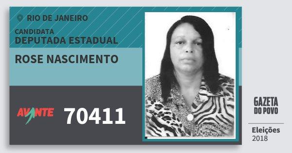Santinho Rose Nascimento 70411 (AVANTE) Deputada Estadual   Rio de Janeiro   Eleições 2018