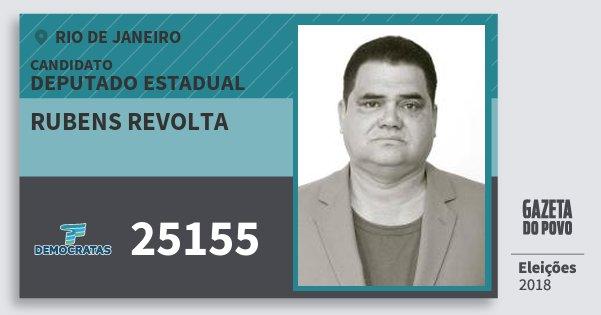 Santinho Rubens Revolta 25155 (DEM) Deputado Estadual | Rio de Janeiro | Eleições 2018