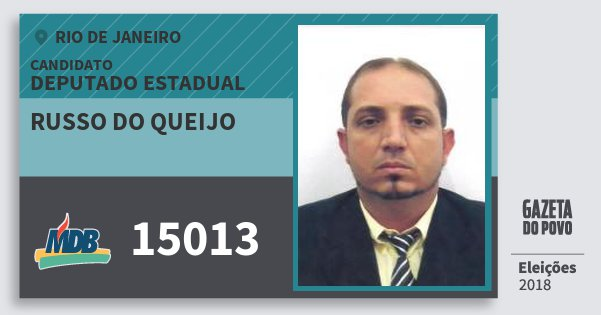 Santinho Russo do Queijo 15013 (MDB) Deputado Estadual | Rio de Janeiro | Eleições 2018