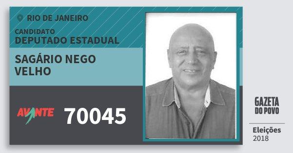 Santinho Sagário Nego Velho 70045 (AVANTE) Deputado Estadual   Rio de Janeiro   Eleições 2018