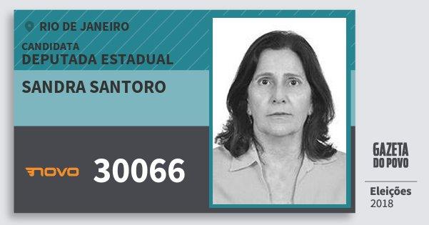 Santinho Sandra Santoro 30066 (NOVO) Deputada Estadual | Rio de Janeiro | Eleições 2018