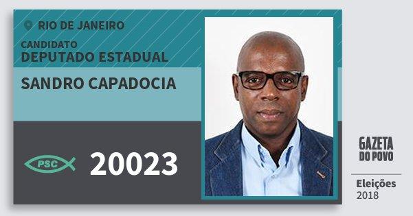 Santinho Sandro Capadocia 20023 (PSC) Deputado Estadual | Rio de Janeiro | Eleições 2018