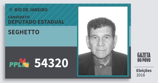 Santinho Seghetto 54320 (PPL) Deputado Estadual | Rio de Janeiro | Eleições 2018