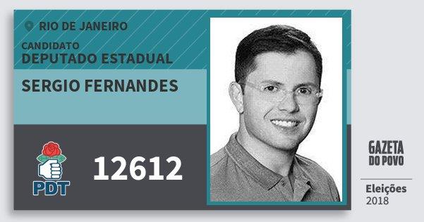 Santinho Sergio Fernandes 12612 (PDT) Deputado Estadual | Rio de Janeiro | Eleições 2018