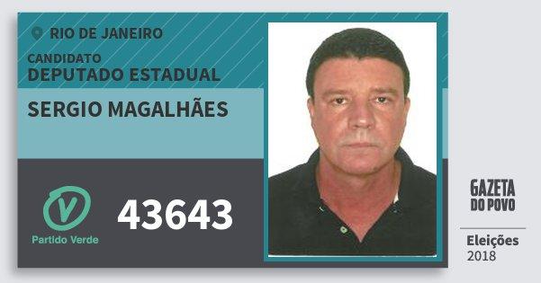 Santinho Sergio Magalhães 43643 (PV) Deputado Estadual | Rio de Janeiro | Eleições 2018