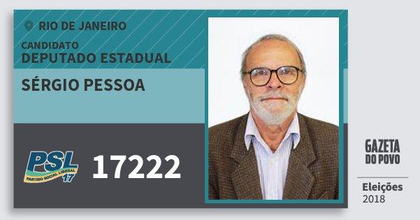 Santinho Sérgio Pessoa 17222 (PSL) Deputado Estadual | Rio de Janeiro | Eleições 2018