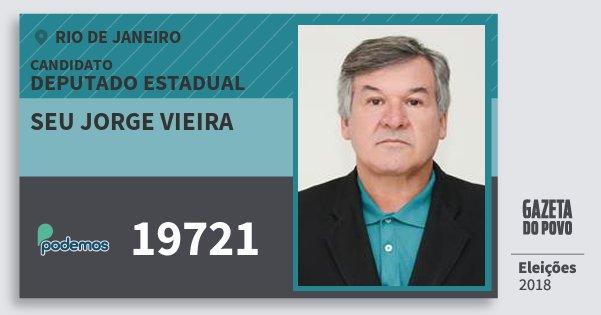 Santinho Seu Jorge Vieira 19721 (PODE) Deputado Estadual | Rio de Janeiro | Eleições 2018