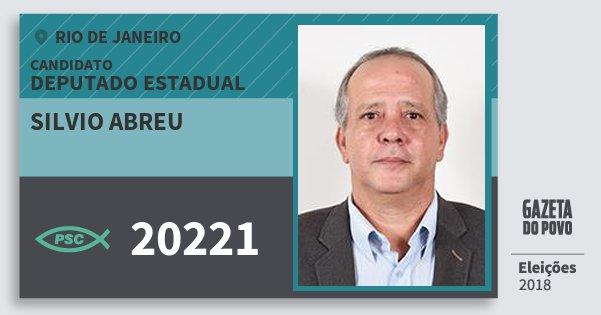 Santinho Silvio Abreu 20221 (PSC) Deputado Estadual   Rio de Janeiro   Eleições 2018
