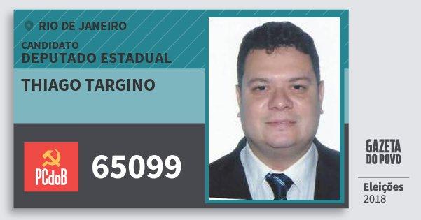 Santinho Thiago Targino 65099 (PC do B) Deputado Estadual | Rio de Janeiro | Eleições 2018