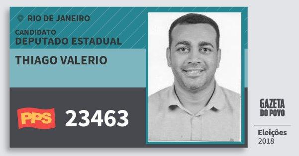 Santinho Thiago Valerio 23463 (PPS) Deputado Estadual | Rio de Janeiro | Eleições 2018