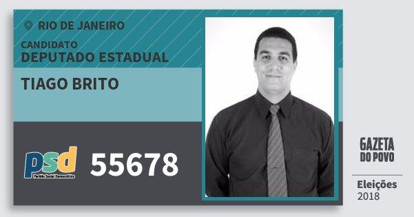 Santinho Tiago Brito 55678 (PSD) Deputado Estadual  34a2915fa38