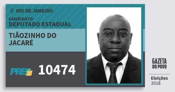 f710c1444de65 Santinho Tiãozinho do Jacaré 10474 (PRB) Deputado Estadual   Rio de Janeiro    Eleições. Compartilhe este candidato