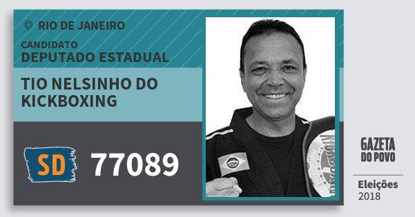 348a38330be28 Santinho Tio Nelsinho do Kickboxing 77089 (SOLIDARIEDADE) Deputado Estadual