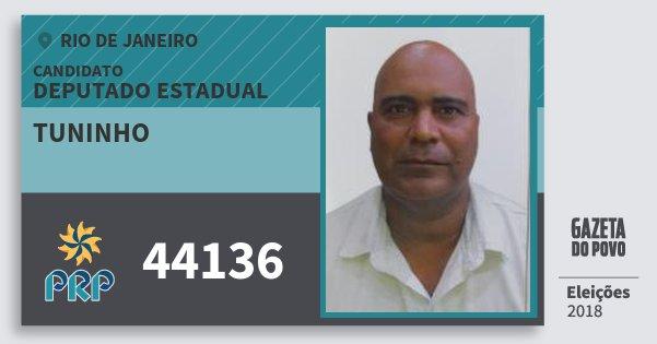 Santinho Tuninho 44136 (PRP) Deputado Estadual | Rio de Janeiro | Eleições 2018