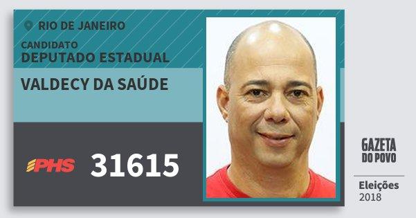 Santinho Valdecy da Saúde 31615 (PHS) Deputado Estadual | Rio de Janeiro | Eleições 2018
