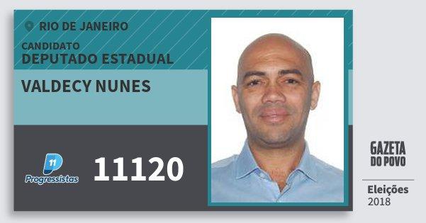 Santinho Valdecy Nunes 11120 (PP) Deputado Estadual | Rio de Janeiro | Eleições 2018