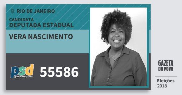 Santinho Vera Nascimento 55586 (PSD) Deputada Estadual | Rio de Janeiro | Eleições 2018