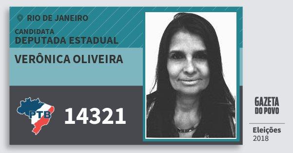 Santinho Verônica Oliveira 14321 (PTB) Deputada Estadual | Rio de Janeiro | Eleições 2018