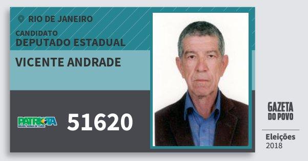 Santinho Vicente Andrade 51620 (PATRI) Deputado Estadual | Rio de Janeiro | Eleições 2018