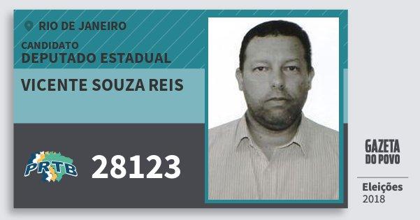 Santinho Vicente Souza Reis 28123 (PRTB) Deputado Estadual   Rio de Janeiro   Eleições 2018