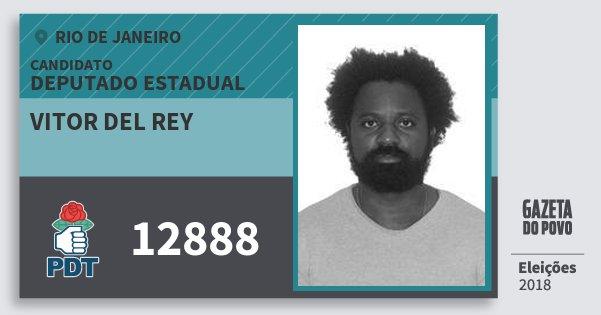 Santinho Vitor del Rey 12888 (PDT) Deputado Estadual | Rio de Janeiro | Eleições 2018