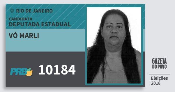 Santinho Vó Marli 10184 (PRB) Deputada Estadual | Rio de Janeiro | Eleições 2018