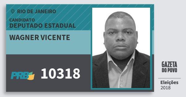 Santinho Wagner Vicente 10318 (PRB) Deputado Estadual | Rio de Janeiro | Eleições 2018