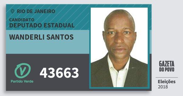 Santinho Wanderli Santos 43663 (PV) Deputado Estadual | Rio de Janeiro | Eleições 2018