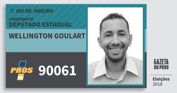 Santinho Wellington Goulart 90061 (PROS) Deputado Estadual | Rio de Janeiro | Eleições 2018
