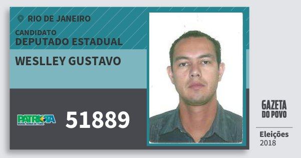 Santinho Weslley Gustavo 51889 (PATRI) Deputado Estadual | Rio de Janeiro | Eleições 2018