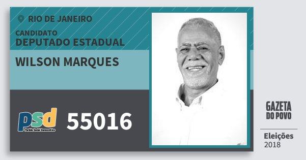 Santinho Wilson Marques 55016 (PSD) Deputado Estadual | Rio de Janeiro | Eleições 2018