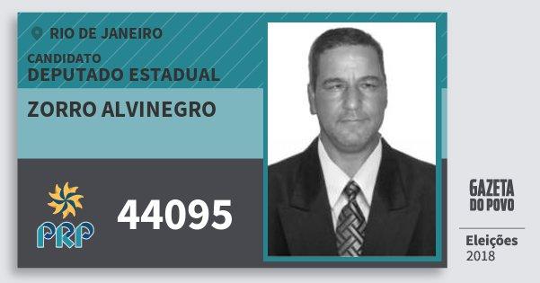 Santinho Zorro Alvinegro 44095 (PRP) Deputado Estadual | Rio de Janeiro | Eleições 2018
