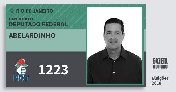Santinho Abelardinho 1223 (PDT) Deputado Federal | Rio de Janeiro | Eleições 2018