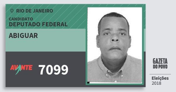 Santinho Abiguar 7099 (AVANTE) Deputado Federal | Rio de Janeiro | Eleições 2018