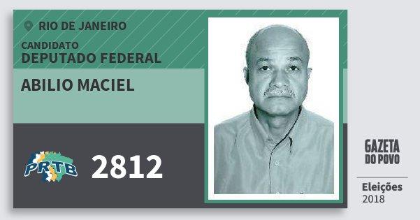 Santinho Abilio Maciel 2812 (PRTB) Deputado Federal | Rio de Janeiro | Eleições 2018