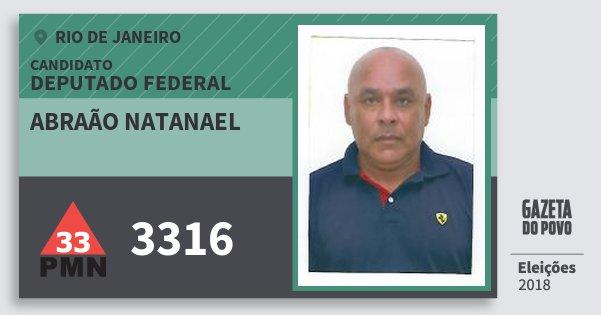 Santinho Abraão Natanael 3316 (PMN) Deputado Federal | Rio de Janeiro | Eleições 2018