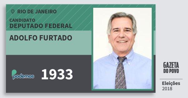 Santinho Adolfo Furtado 1933 (PODE) Deputado Federal | Rio de Janeiro | Eleições 2018