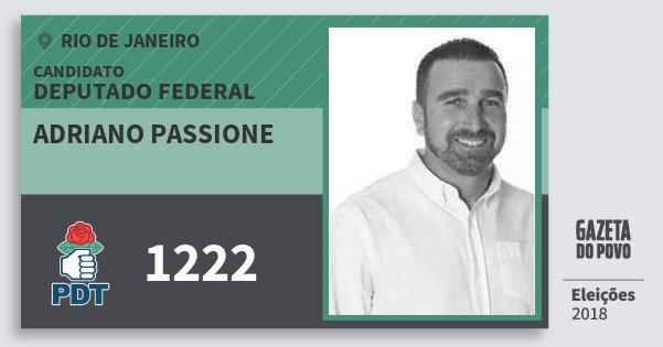 Santinho Adriano Passione 1222 (PDT) Deputado Federal | Rio de Janeiro | Eleições 2018