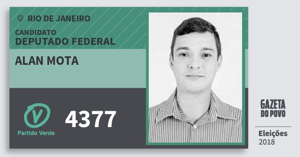 Santinho Alan Mota 4377 (PV) Deputado Federal | Rio de Janeiro | Eleições 2018