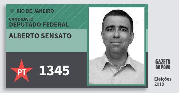 Santinho Alberto Sensato 1345 (PT) Deputado Federal | Rio de Janeiro | Eleições 2018