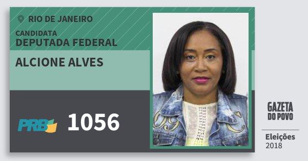 Santinho Alcione Alves 1056 (PRB) Deputada Federal | Rio de Janeiro | Eleições 2018