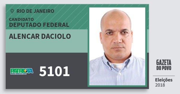 Santinho Alencar Daciolo 5101 (PATRI) Deputado Federal | Rio de Janeiro | Eleições 2018