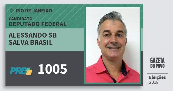 Santinho Alessando Sb Salva Brasil 1005 (PRB) Deputado Federal | Rio de Janeiro | Eleições 2018