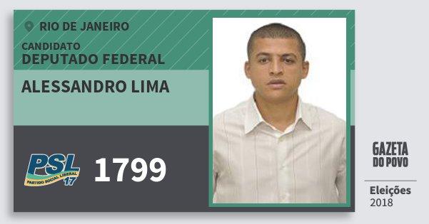 Santinho Alessandro Lima 1799 (PSL) Deputado Federal | Rio de Janeiro | Eleições 2018