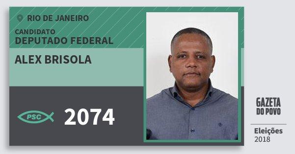 Santinho Alex Brisola 2074 (PSC) Deputado Federal | Rio de Janeiro | Eleições 2018