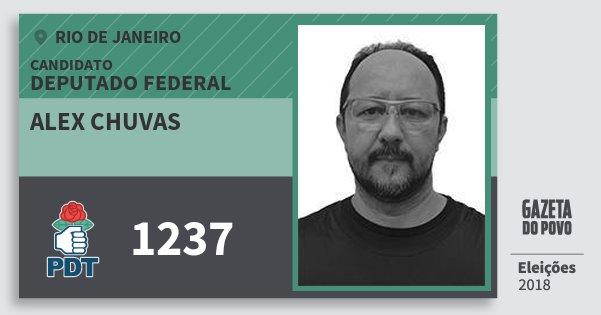 Santinho Alex Chuvas 1237 (PDT) Deputado Federal | Rio de Janeiro | Eleições 2018