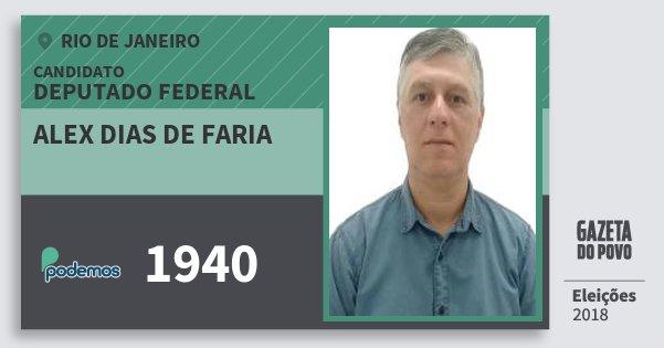 Santinho Alex Dias de Faria 1940 (PODE) Deputado Federal | Rio de Janeiro | Eleições 2018