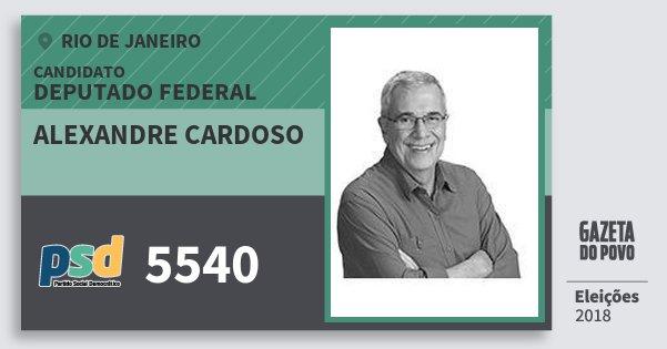 Santinho Alexandre Cardoso 5540 (PSD) Deputado Federal | Rio de Janeiro | Eleições 2018